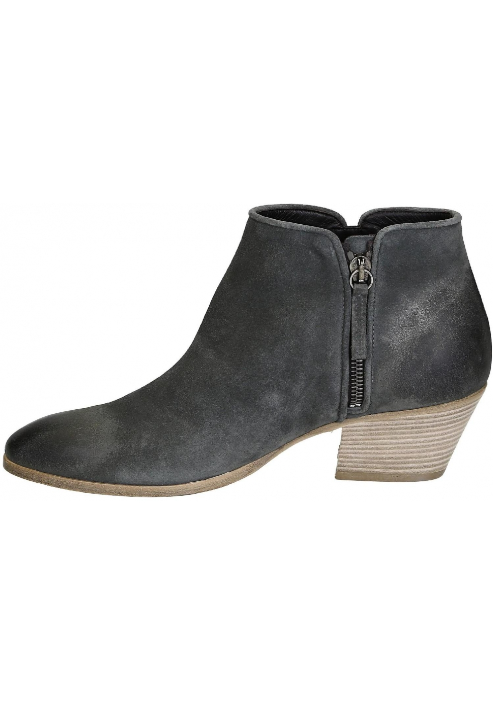 7004d0340 Giuseppe Zanotti women s ankle boots in gray suede leather - Italian ...