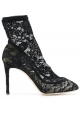 Dolce&Gabbana high heels sock pumps in black satin