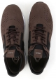 Tod's men's laser cut sneakers shoes in brown leather