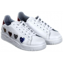 Chiara Ferragni low top white leather sneakers shoes