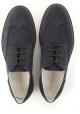Hogan men's wingtips lace-up shoes in blue suede