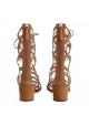 Aquazzura Mumbai gladiator sandals in beige suede