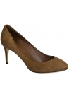 Gucci high heels pumps in medium brown suede leather