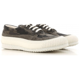 Hogan men's low top sneakers shos in camouflage fabric