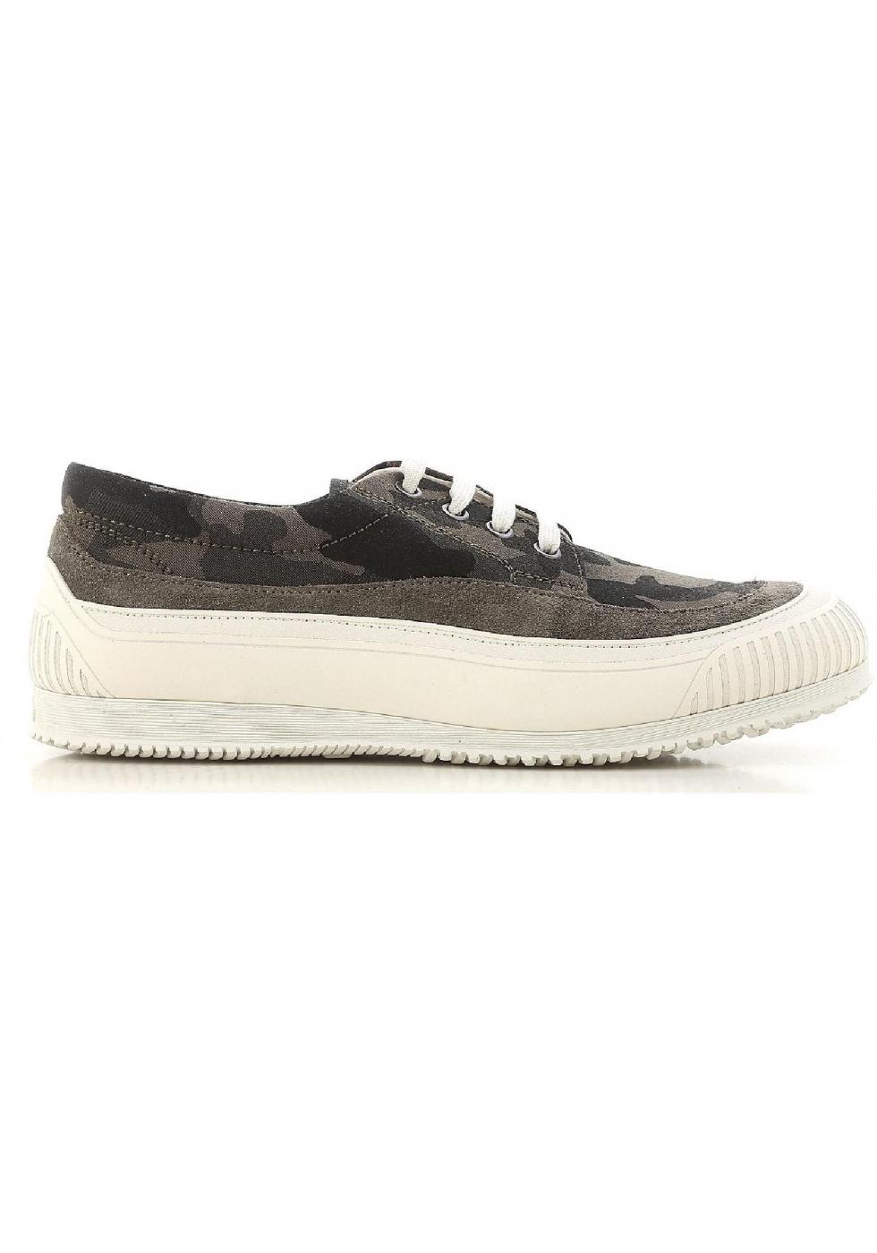 66909a43d62e5 Hogan men's low top sneakers shos in camouflage fabric - Italian ...