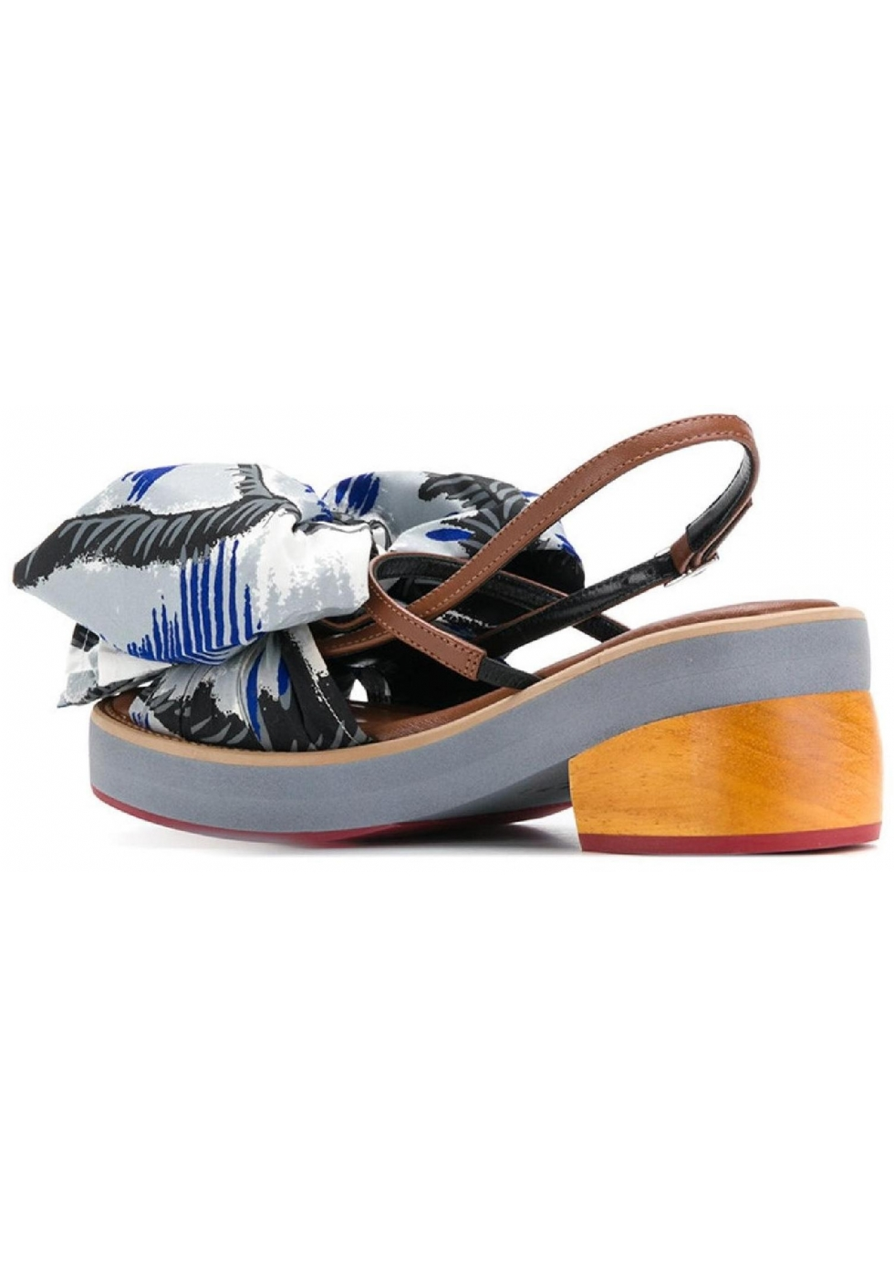 58139d7283bc Marni kitten heel sandals with big fabric bow - Italian Boutique
