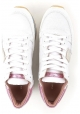 Philippe Model women's low top sneakers in white leather