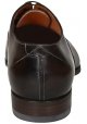Santoni men's lace-up in brown shiny calf leather