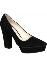 Prada pumps with platform in black suede leather