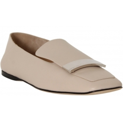 Sergio Rossi flats moccasin in powder soft leather