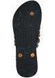 Uzurii women's thong slippers in black rubber