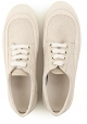 Hogan women's low top sneakers shoes in beige fabric