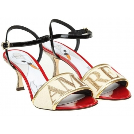 Dolce&Gabbana high heel sandals Love shoes in leather