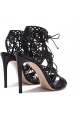 Casadei evening black high stiletto heels sandals