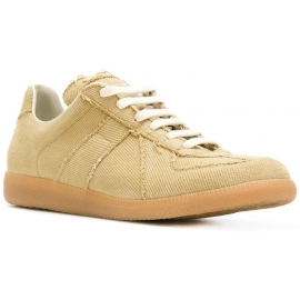 Maison Margiela men's Replica sneakers in beige fabric