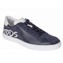 Tod's men's Gommino sneakers in blue suede leather