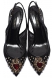 Dolce&Gabbana slingbacks pumps in black leather and fabric
