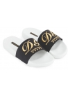 Dolce&Gabbana men's slippers in black and white rubber