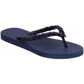 Uzurii women's thong slippers in blue rubber