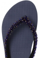 Uzurii women's thong slippers in blue rubber
