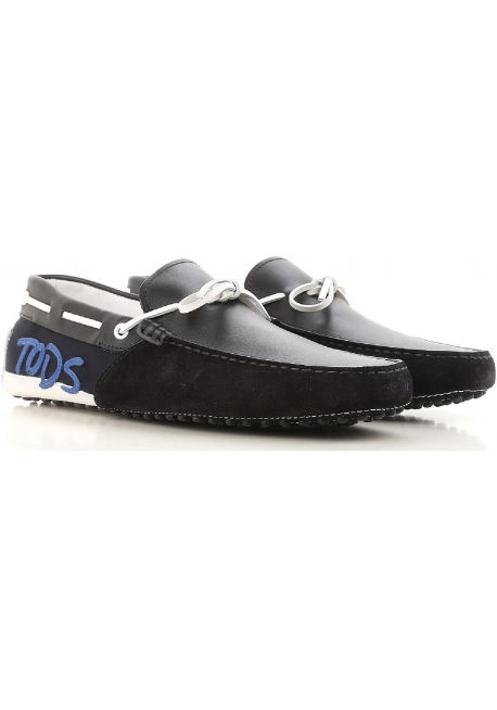 fb43c8c5105 Tod S Men Gommino Driving Moccasins In Black Suede Leather