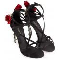 Dolce&Gabbana high heel sandals in black satin