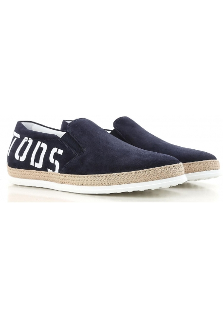 7b1d4cdf851 Tod s men s slip-ons shoes in blue suede leather - Italian Boutique