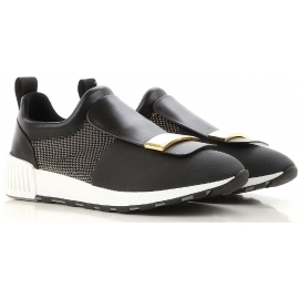 Sergio Rossi women's sneakers in black leather