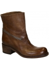 Vic Matié ankle boots in medium brown leather