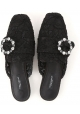 Dolce&Gabbana women's close slippers in black satin