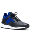 Tod's men's low top sneakers shoes in black leather