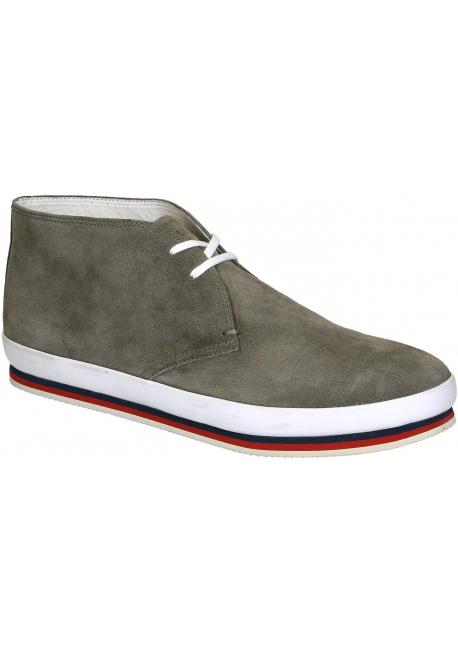 96f29eb78558 Prada men s desert boots in grey suede leather - Italian Boutique