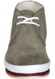 Prada men's desert boots in grey suede leather