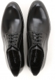 Dolce&Gabbana men's dress lace-up shos black shiny calf leather