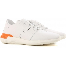 Tod's women's low top sneakers shoes in white leather