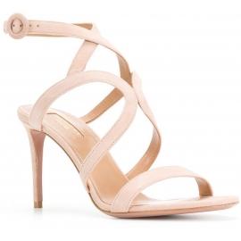 Aquazzura high heels sandals in light pink suede
