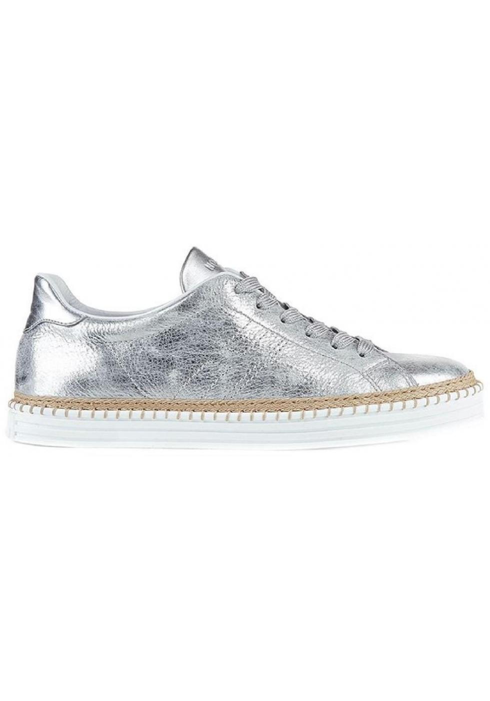 silver metallic leather - Italian Boutique