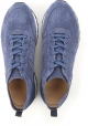 Hogan men's laser cut neakers in blue suede leather