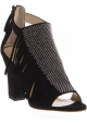 Giuseppe Zanotti heeled sandals in black suede leather