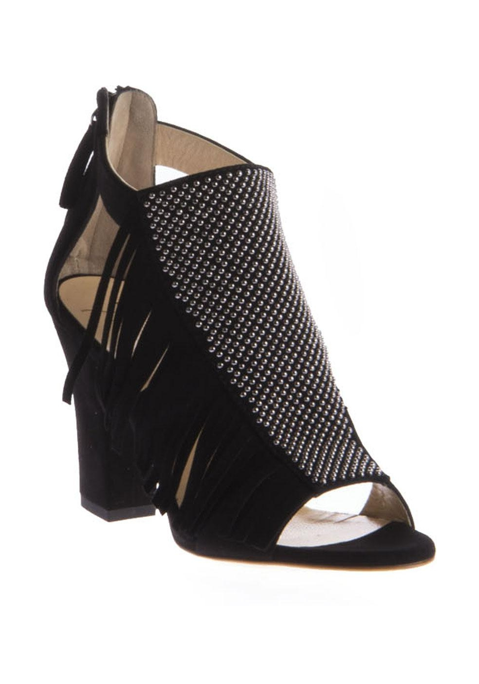 Sandals for Women On Sale, Black, Suede leather, 2017, 5.5 Giuseppe Zanotti