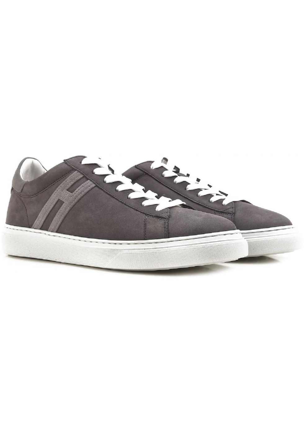 Hogan men's low top sneakers shoes in grey suede - Italian Boutique