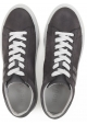 Hogan men's low top sneakers shoes in grey suede
