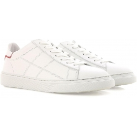 Hogan low top women's sneakers shoes in white leather