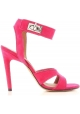 Givenchy stiletto heels sandals in fuxia suede leather