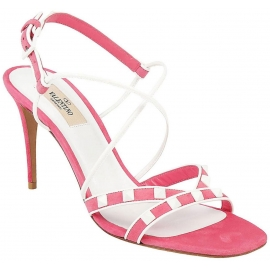 Valentino high stiletto heel sandals in pink suede leather