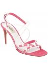 Valentino high stiletto heel sandals in pink suede leather