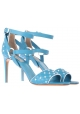 Valentino high heel sandals in light blue leather