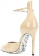 Gucci high heels pumps shoes in sand patent leather