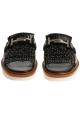 Tod's women's frindges slides in black leather