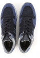 Hogan men's low top sneakers shoes in blue suede